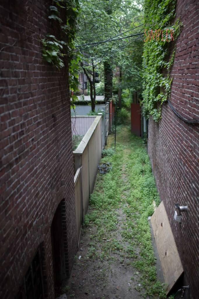 City alleyway