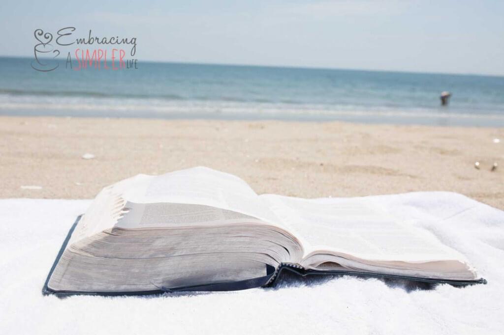 Bible on the beach