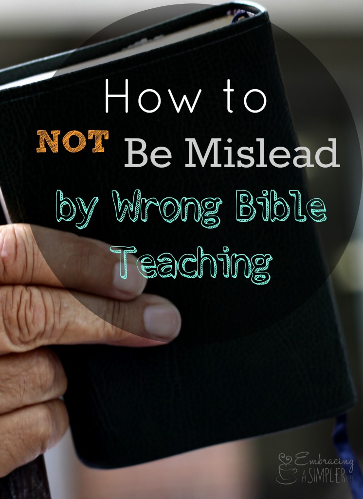how to not be mislead by wrong Bible teaching pinterest