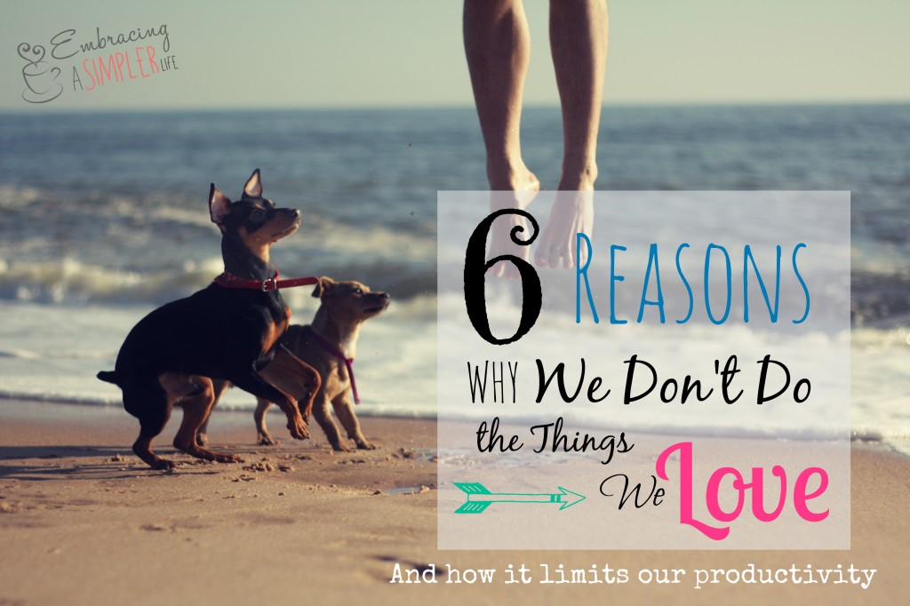 6 reasons why we don't do the things we love