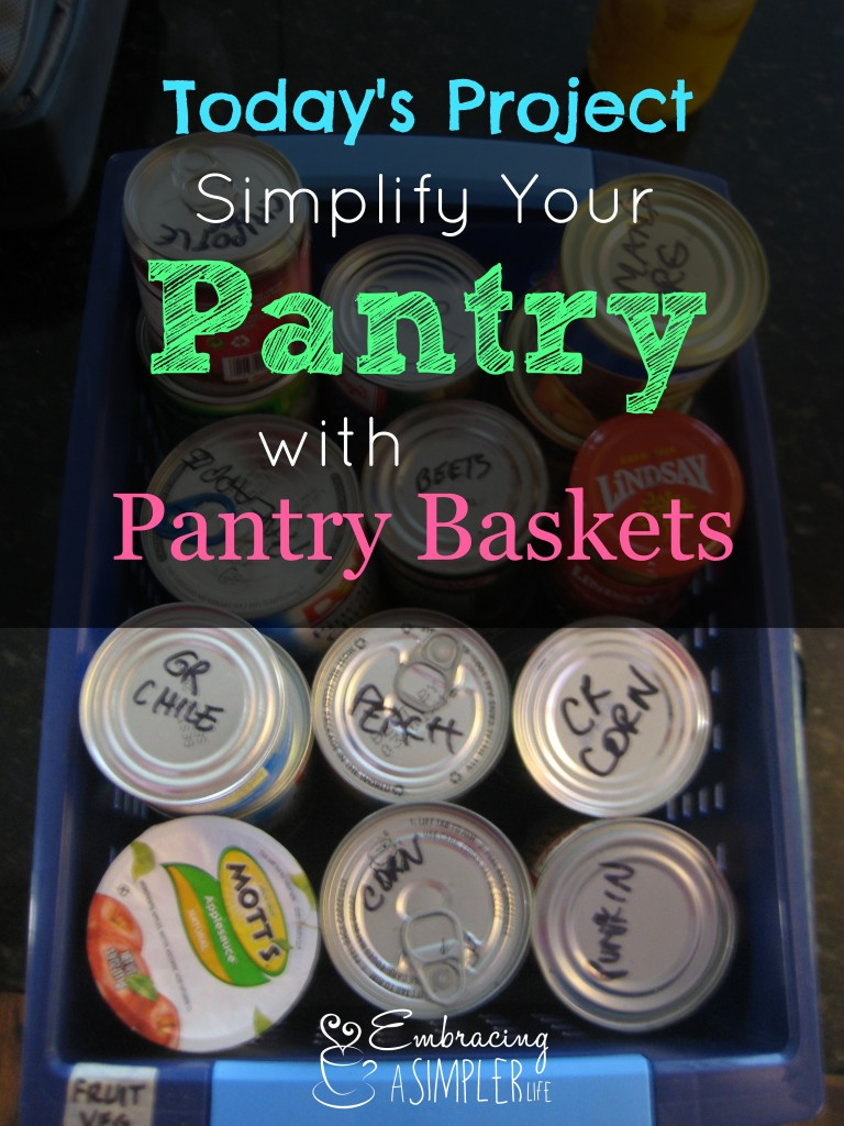 Simplify Your Pantry with Pantry Baskets