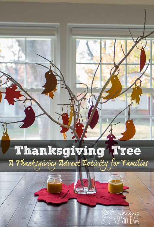 Thanksgiving Tree Tradition- A Thanksgiving Advent Activity for Families