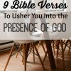 9 Bible Verses to Usher You Into the Presence of God pin