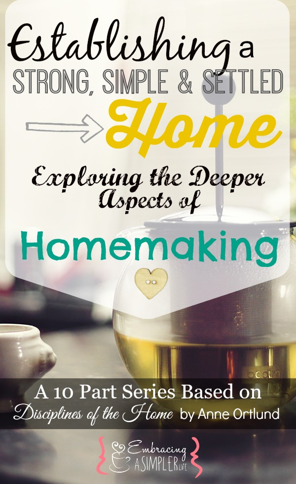 establishing a strong, simple and settled home series
