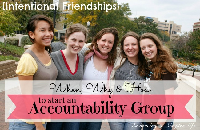 intentional friendships accountability group