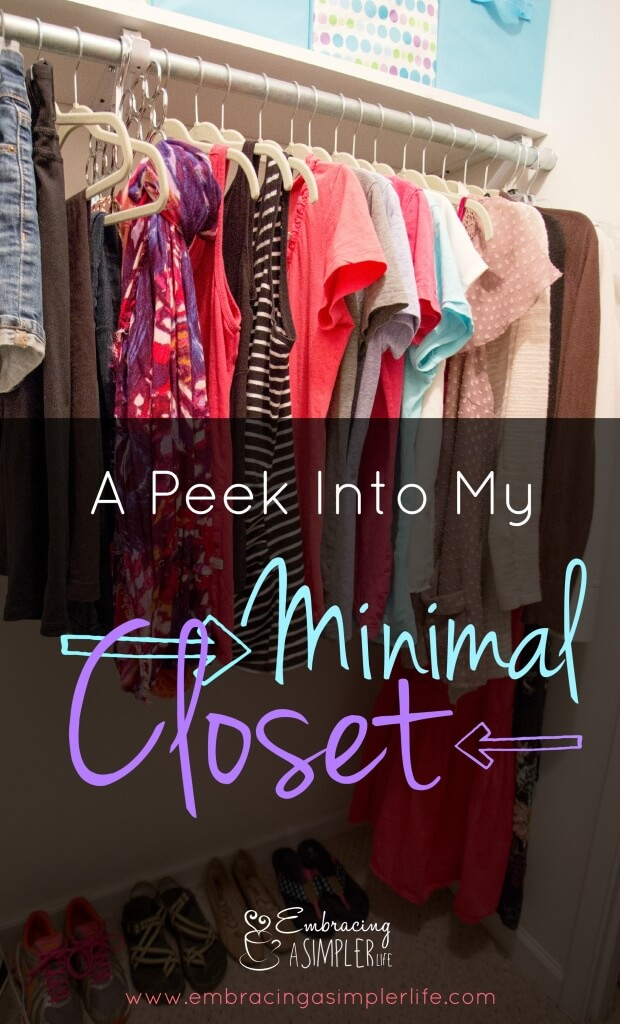 a peek into my minimal closet