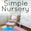 creating a simple nursery