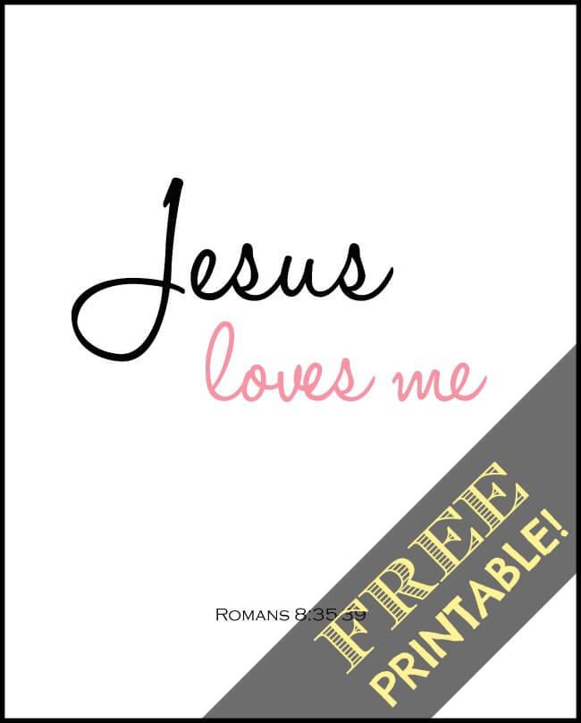 jesus loves me nursury print free printable