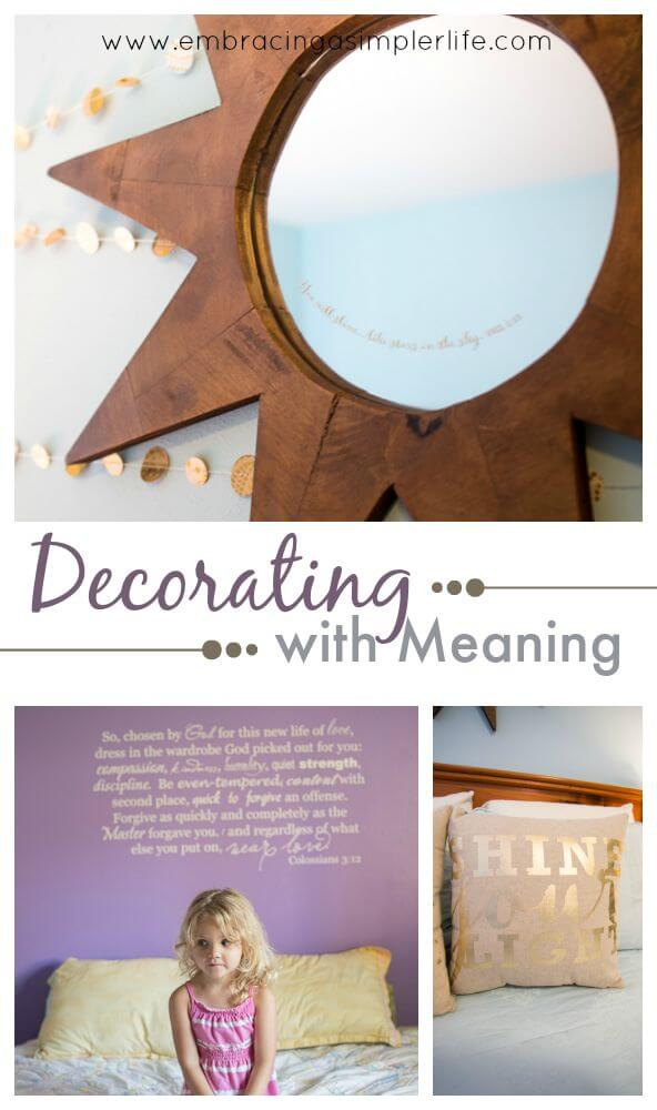 decorating with meaning