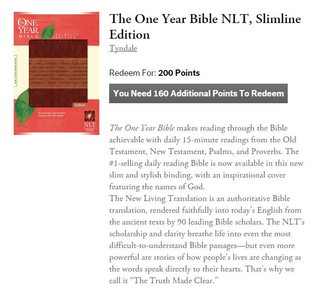 one year bible hard copy