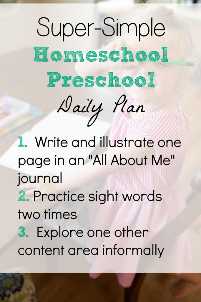 super simple homeschool preschool daily plan