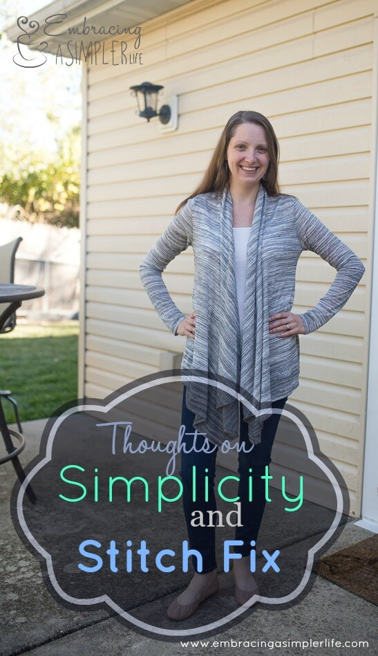 thoughts on simplicity and stitch fix