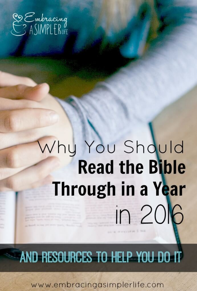 why you should read the bible through in 2016