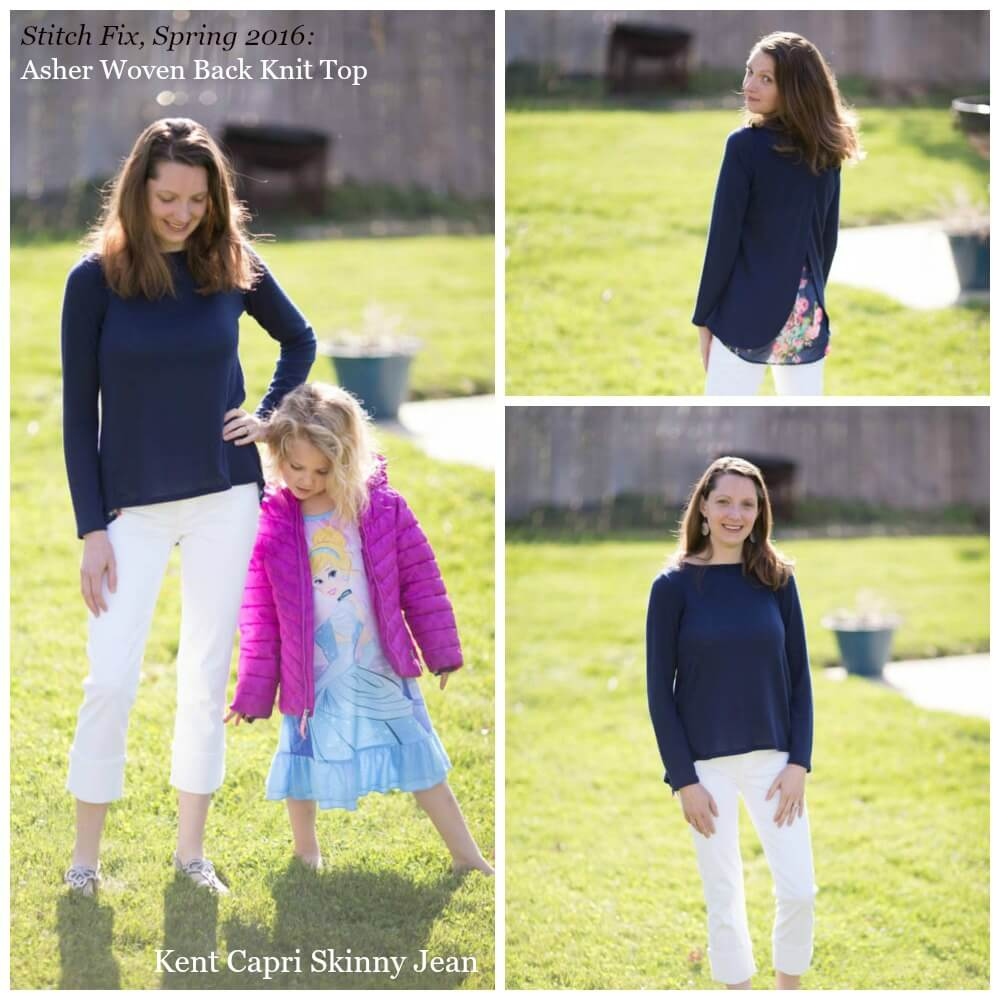 Stitch Fix Spring 2016 Asher Woven Back Knit Top